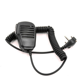 ham radio mic Australia - Protable microphone Shoulder Speaker ham Mic with PTT for Vertex Standard Radios