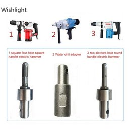 drill bit adapter Canada - Drill Adapter Bit SDS Square Auger Drill Head for Gasoline Arbor Earth Electric Hammer and Water Borer