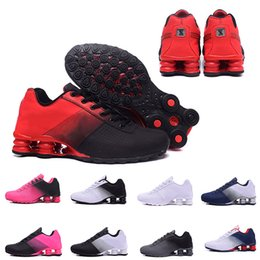 Shox Sport ShoeS online shopping - With Box black Shox Deliver Men Air Running Shoes Famous DELIVER OZ NZ Mens Athletic Sneakers Sports Running Shoes
