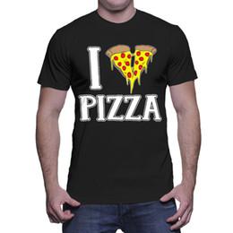 63b1bf0936 Pizza T Shirts Australia - I Love Pizza - Heart Italian Cheese Pie Food  Sauce Mens