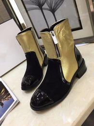$enCountryForm.capitalKeyWord Australia - Hot Sale Woman Winter Mixed Color Side Zipper Short Boots Femal High Quality Brand Design Deep Mouth Short Boots Woman Fashion Shiny Boots