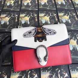 $enCountryForm.capitalKeyWord Australia - 2019 High-end Custom Brand-name Luxury Handbags Gg Embroidery Bees One Shoulder Hand His Real Cowhide Bag Ladies Handbags