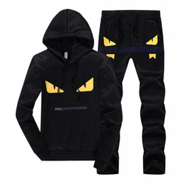 China Men Sportswear Hoodie And Sweatshirts Black White Autumn Winter Jogger Sporting Suit Mens Sweat Suits Tracksuits Set Plus Size M-4XL 418-14 supplier black cotton suit mens suppliers