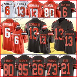 6 Baker Mayfield Cleveland 13 Maillot Odell Beckham Jr Browns 80 Jarvis Landry 26 Greedy Williams 21 Denzel Quartier 27 Kareem Hunt en Solde