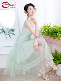 $enCountryForm.capitalKeyWord UK - Fairy2019 New Dress Gauze Pattern Summer Temperament Thin And Very Immortal Real France Niche Chinese Bellflower In Longuette Woman 931801