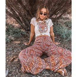 $enCountryForm.capitalKeyWord Australia - Teelynn Boho Pants 2018 Vintage Rayon Floral Print Ankle-length Summer Flare Pant Casual Trousers Hippie Chic Long Women Pants Y19071701