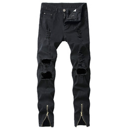 ecfbe1e05a2ad6 Cowboys Pants UK - 2019 New Fashion Ripped Jeans Men Patchwork Hollow Out  Printed Beggar Long