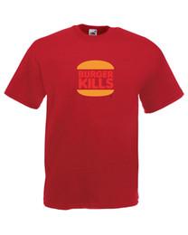$enCountryForm.capitalKeyWord UK - Burger Kills Burger King Parody Graphic Design Quality t-shirt tee mens unisex Men Women Unisex Fashion tshirt Free Shipping