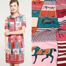 $enCountryForm.capitalKeyWord Australia - New European and American style cute fun circus digital printing clothing handmade DIY fabrics for dress polyester fabric
