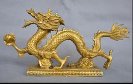 $enCountryForm.capitalKeyWord Australia - Free Shipping>13'' China Zodiac Dragon Hold Ball Bronze Statue