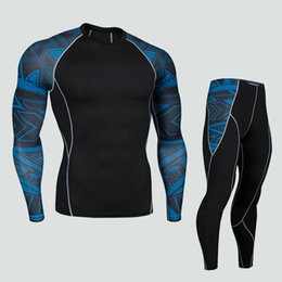 men compression tights shirt UK - 2019 New Men Compression Tight Skin Shirt MMA Long Sleeves 3D Prints Rashguard Fitness Base Layer Weight Lifting Male Tops Wear