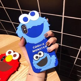 $enCountryForm.capitalKeyWord UK - YunRT Super Cute US Cartoon 3D silicone Sesame Street Phone Case For iPhone 6 6s 7 8 Plus X Xs Max Xr ELMO COOKIE Monstrous Soft Cover