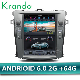 "Toyota Corolla Radio Gps Australia - Krando Android 6.0 10.4"" Tesla Vertical screen car DVD multimedia player GPS for toyota Corolla 2008-2012 radio navigation system"