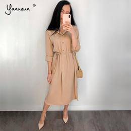 $enCountryForm.capitalKeyWord NZ - Yanueun 2019 Spring Longarm Lots Sharpening Clothes Rotate Bottom Neck Mid -calf Streetwear For Female Autumn Hot Sale Y19070901