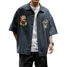 $enCountryForm.capitalKeyWord Australia - Men Jackets And Coat 2019 Japanese Kimono New Fashion Dragon and Tiger Embroidery Coats Male Jaket