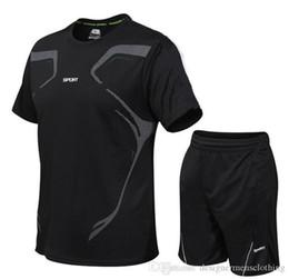 Vente en gros Vêtements pour hommes Courir Sets Estivaux Homme 2PCS sport survêtements Casual Adolescent Fitness rapide Suits séchage