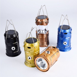 Light Up Switches Australia - Portable LED Solar Eenergy Eemergency Light Outdoor Camping Lantern LED Tent Pull-up switch