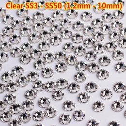 Hinestones Decorações 1 BAG / 1440 Pcs Swarovski Prego Strass Cristal Céu Estrelado Colorful Flatback Diamante SS3-30 Mista DIY Charme ... venda por atacado