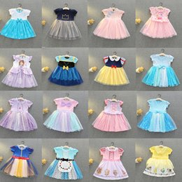 $enCountryForm.capitalKeyWord Australia - Baby Girls Tutu Designer Dresses Kids New Summer INS Party Elegant Princess Agaric Lace Gauze Skirt Halloween Cosplay Costume 34 Colors