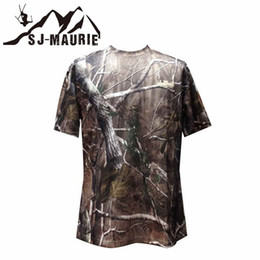 Tactical Tee Men Australia - Outdoor Hunting Fishing Camouflage T-shirt Men Breathable Army Tactical Combat T-Shirt Quick Dry Sport Camo Camp Tees