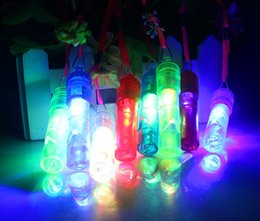Party Noises Australia - Colorful Luminous Led Flashing Whistle Kids Children Toys Festival And Party Novelty Items Noise Maker Free Shipping