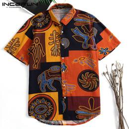 5256ab0c3f Incerun Hawaiian Men Dress Short Sleeve Slim Fit Floral Streetwear Tee  Casual Beach Shirts Camisas Mens Clothing Q190518