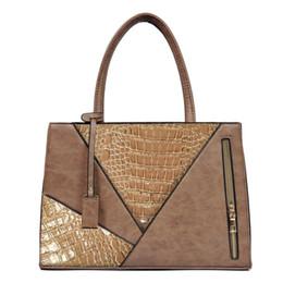 $enCountryForm.capitalKeyWord Canada - Women Alligator PU Leather Handbag Female Luxury Over Shoulder Bag Brand Designer Large A4 Briefcase Tote Bag for Office Ladies