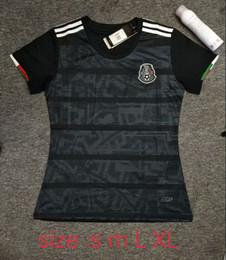 Venta al por mayor de Camiseta mujer Jersey 2019 México Inicio Negro Camisetas de fútbol Copa de oro Chica 19/20 COPA AMÉRICA CHICHARITO Camisetas de futbol LOZANO VELA RAUL Camisetas