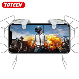 Xiaomi Game Australia - Yoteen Phone game Aim Key Smart phone Mobile Games L1R1 Shooter Controller PUBG for Iphone Xiaomi Metal Trigger Fire Button