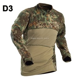 Military Camouflage Clothing NZ - Military tactical T shirt camouflage clothes kryptek camo uniform combat shirt paintball clothing breathable frog Tshirt airsoft US army 3XL