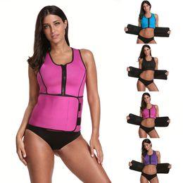 Body Sauna UK - NEW Neoprene Sauna Vest Body Shaper Slimming Waist Trainer Hot Shaper Fashion Workout Shapewear Adjustable Sweat Belt Corset