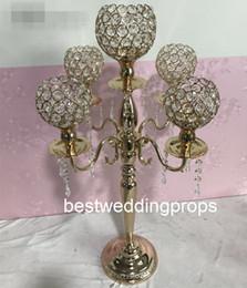 $enCountryForm.capitalKeyWord Australia - New style Wedding Bride and Groom Table crytal gold Decoration besto869