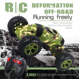 Flash Drive Charger Australia - High Speed Kids Gift RC Car Children Off-road Vehicle Truck Deformation All-terrain Climber Boys Remote Control Four Wheel Drive