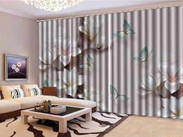 $enCountryForm.capitalKeyWord Canada - 3D Floral Curtain Fantasy Pink Flowers Blue Butterfly Living Room Bedroom Beautiful Practical Shade Curtains