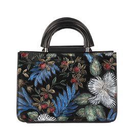 Organic Style Flowers Canada - Pink sugao fashion shoulder bag women luxury crossbody handbag designer flower-printed bags china style bag for lady genuine leather handbag