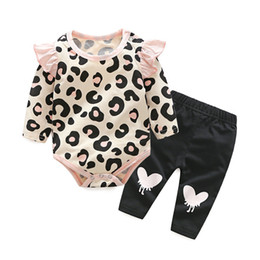 $enCountryForm.capitalKeyWord NZ - Baby Clothing Sets 2019 Baby Girl Winter Clothes Infant Clothing Leopard Print Rompers Headband Pants 3PCS Outfits Set