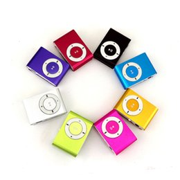 $enCountryForm.capitalKeyWord Australia - Wholesale Mini Clip MP3 Player Factory Price Come With Crystal Box Earphones USB Cable Support TF Card Micor SD Card