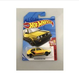 Discount mk2 cars - New Arrivals 2018 8j Hot Wheels 1:64 yellow Volks golf mk2 Car Models Collection Kids Toys Vehicle For Children hot cars