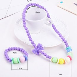 $enCountryForm.capitalKeyWord Australia - Cute Candy Color Necklace Bracelet Jewelry Set Beads Petals Acrylic Children Christmas Gift Party Cosplay Accessories