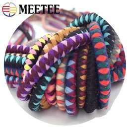 diy hair accessories rope 2019 - Meetee 5mm Color Elastic Rubber Band DIY Manual Head Rope Knotted Hair Ring Bracelet Decor Clothing Accessories BD245 di