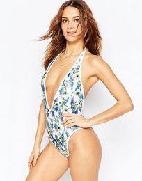 $enCountryForm.capitalKeyWord NZ - Sexy Print Bikinis Swimsuit One Piece Swimwear for Women High Cut Swimming Vest Bathers Monokini Bodysuits Bathing Suit Lady Beach Swim Wear