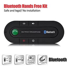 Bluetooth-Auto-MP3-Player Bluetooth-Funklautsprecher Car Kit Sonnenblende Clip Freisprecheinrichtung USB-Ladebuchse für Handy