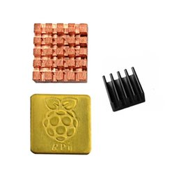 sink pieces NZ - Raspberry Pie Heat Sink 3 2b B+ B Special Pure Copper Broken Aluminum 3 Piece 1 Pack Set With Thermal Adhesive Tape