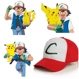 Chinese  Ash Ketchum Caps Anime Pocket Monster Cosplay Costumes Hats Pokemons Cap Ash Ketchum Cartoon Adults Hats manufacturers