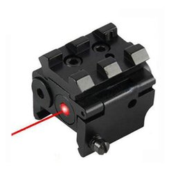 Wholesale 2019 Outdoor Tactical Compact Adjustable Red Laser Sight mW Mini Red Dot Sight With mm Rail Mount