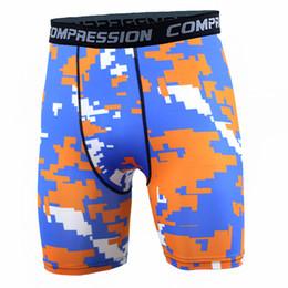 $enCountryForm.capitalKeyWord NZ - New GYM Tight fitting camouflage Men's Bodyboulding Short Pants Men's Compression Shorts Pants Professional Fitness hiking swiming pants.