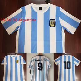 171dbf3f6 ArgentinA jerseys online shopping - 1978 Argentina Maradona Retro Soccer  Jersey Vintage Classic Maradona Argentina Simeone