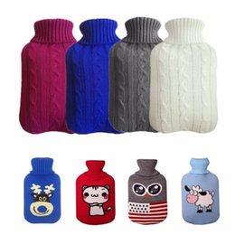 hand water bags NZ - Drop Ships String Hot Water Bottle Bag Cover For 2000 Ml Hot Water Bottle Hot Water Bags Anti -burning Bags Cover Heating Hand Heater
