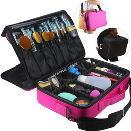 large professional cosmetic bag NZ - Female High Quality Professional Storage Bag Bolso Mujer Cosmetic Case Large Capacity Makeup Organizer Free Disassembly Suitcase Y19052501