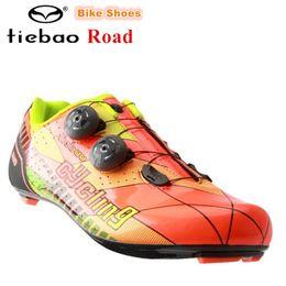 Fiber Loop Australia - TIEBAO Carbon fiber road Cycling Shoes Men sneakers Women Breathable zapatillas deportivas mujer sapatilha ciclismo Bike Shoes